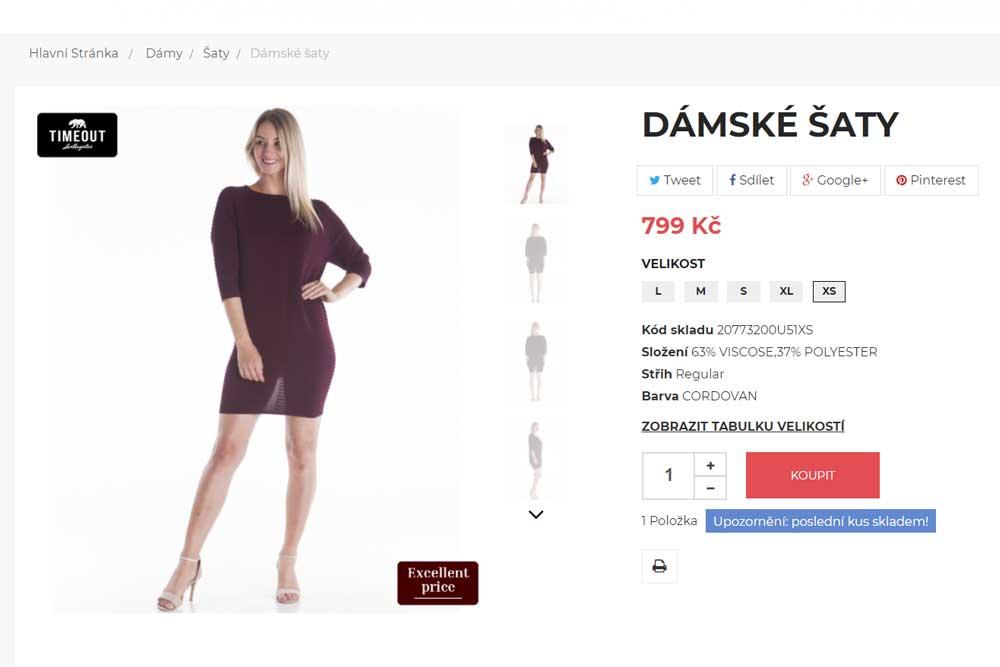 Timeout dámské šaty