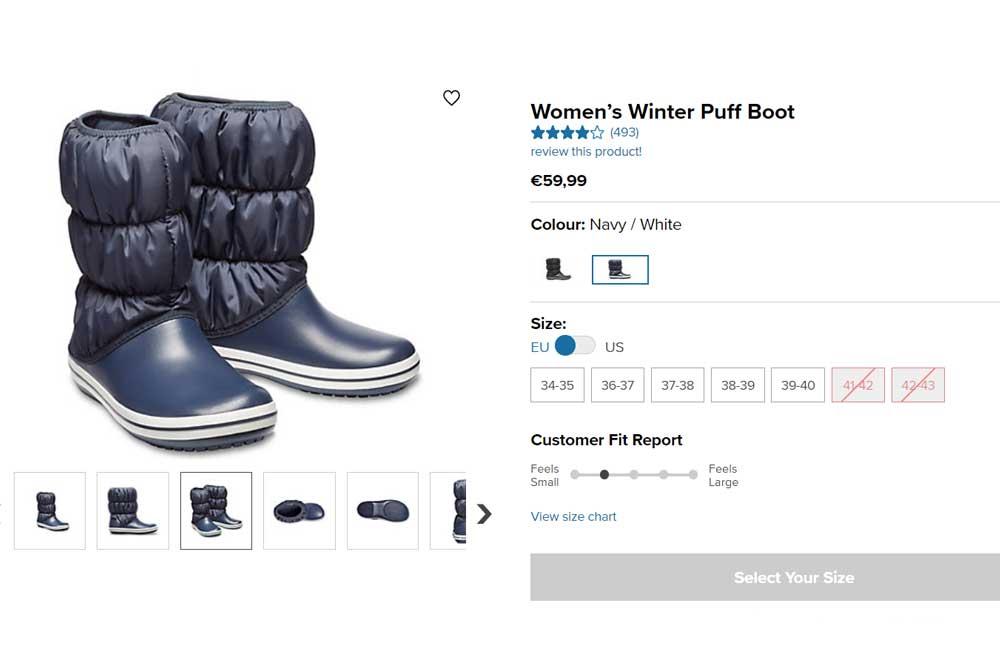 Zimní dámské boty Crocs