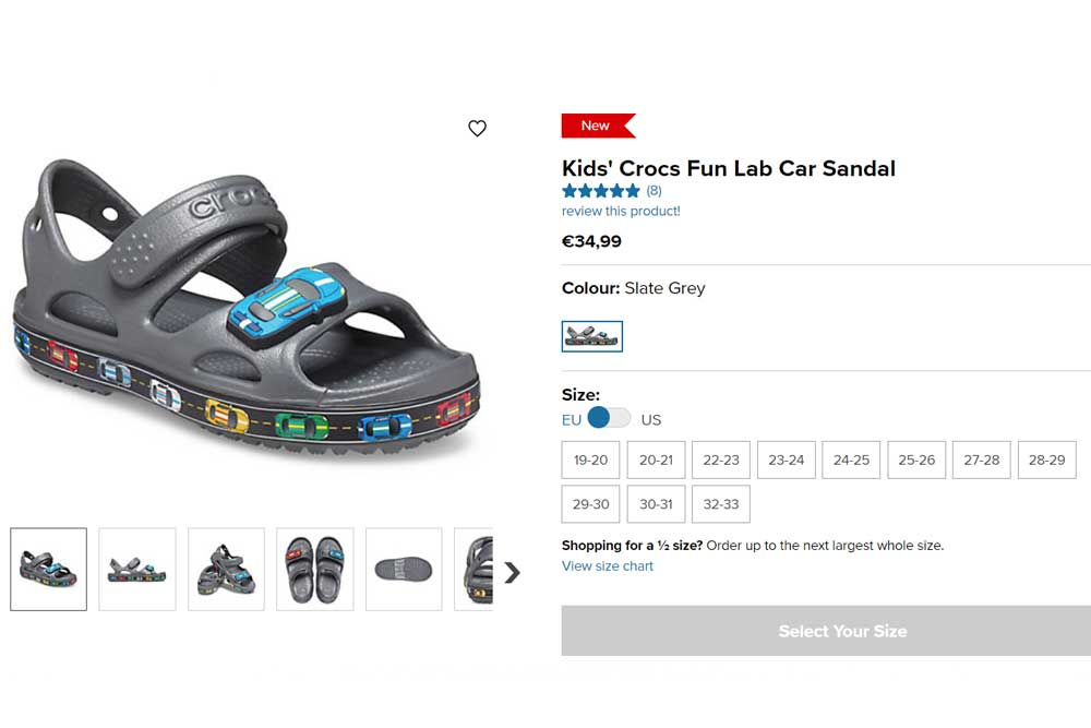 Crocs dětské sandály Fun Lab Car