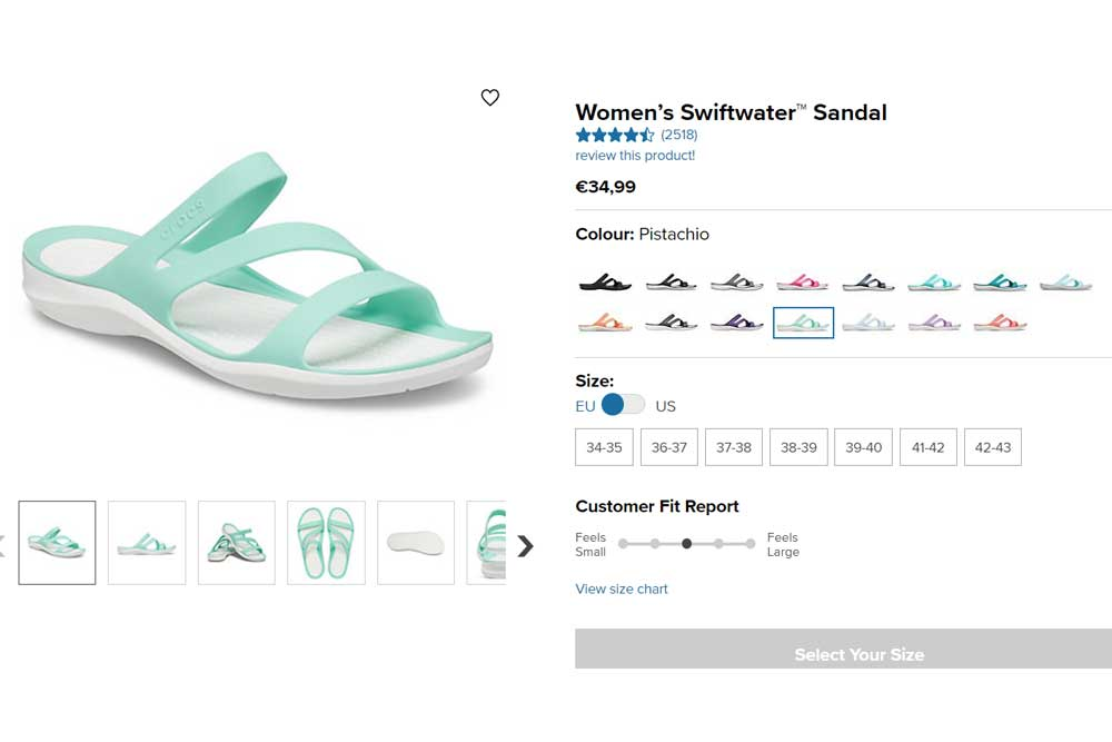 Crocs dámské sandály Swiftwate
