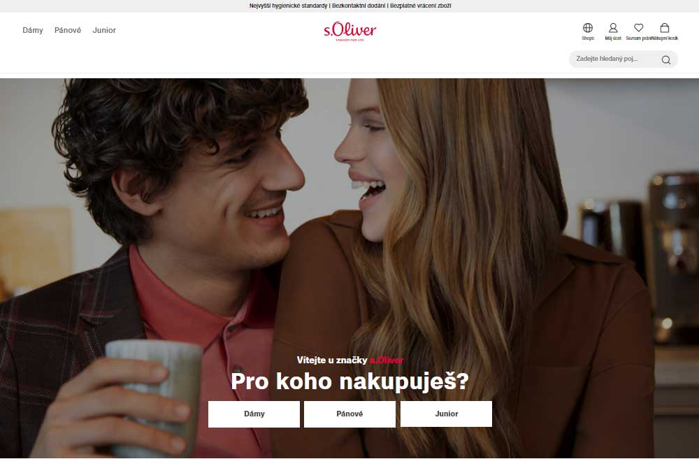 s.Oliver e-shop - ukázka
